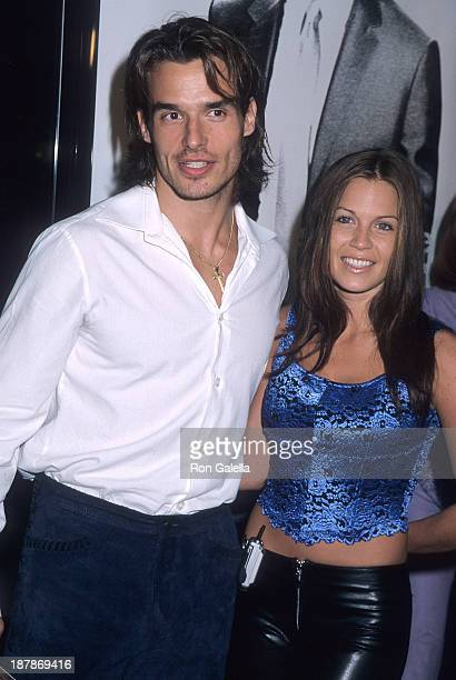 Actor Antonio Sabato Jr and girlfriend Kristin Rossetti attend the Get Carter Westwood Premiere on October 4 2000 at the Mann Bruin Theatre in...