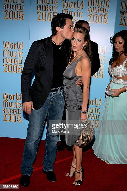Actor Antonio Sabato Jr and guest arrive at the 2005 World Music Awards at the Kodak Theatre on August 31 2005 in Hollywood California