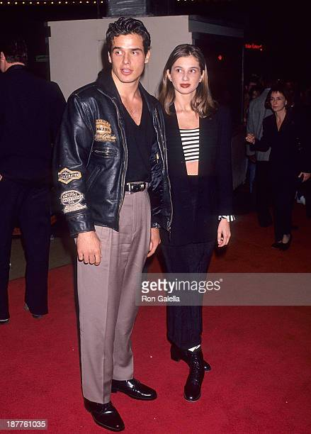 Actor Antonio Sabato Jr and sister Simonne Sabato attend the Fatal Instinct Westwood Premiere on October 27 1993 at the Mann Bruin Theatre in...