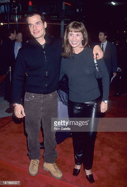 Actor Antonio Sabato Jr and sister Simonne Sabato attend the Fight Club Westwood Premiere on October 6 1999 at the Mann Village Theatre in Westwood...