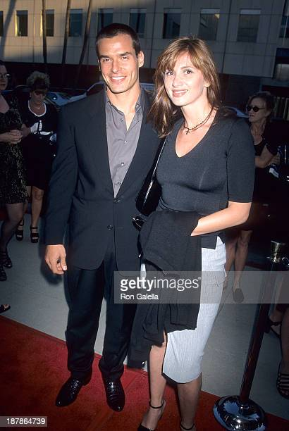 Actor Antonio Sabato Jr and sister Simonne Sabato attend The Thomas Crown Affair Beverly Hills Premiere on July 27 1999 at the Academy of Motion...