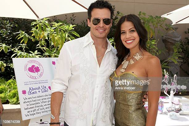 Actor Antonio Sabato Jr and TV Personality Cheryl Moana Marie pose at Retro Sport booth during Kari Feinstein Primetime Emmy Awards Style Lounge Day...