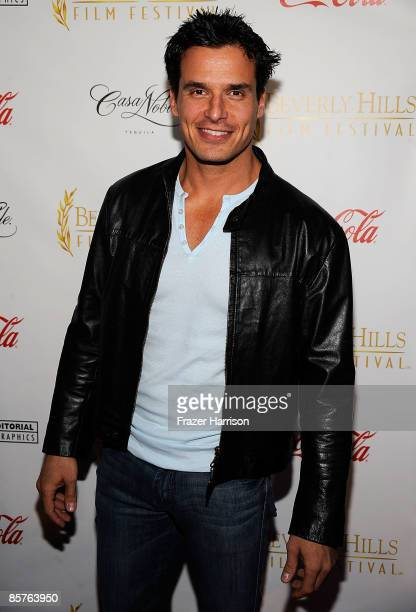Actor Antonio Sabato Jr arrives at the Clarity Theater for the 9th annual Beverly Hills Film Festival opening night gala on April 1 2009 in Beverly...