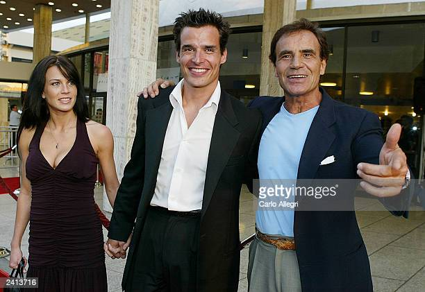 Actor Antonio Sabato Jr his father Antonio Sabato Sr and girlfriend Kristin Rosetti arrive for the premiere of the movie Wasabi Tuna at the Arclight...