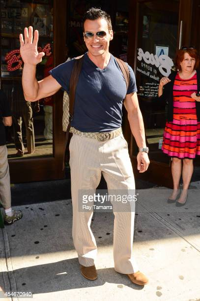 Actor Antonio Sabato Jr leaves Planet Hollywood Times Square on September 4 2014 in New York City