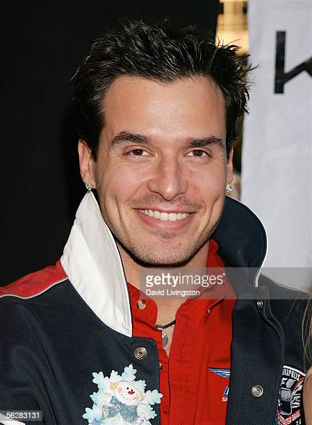 Actor Antonio Sabato Jr poses prior to participating in the 2005 Hollywood Christmas Parade on November 27 2005 in Hollywood California