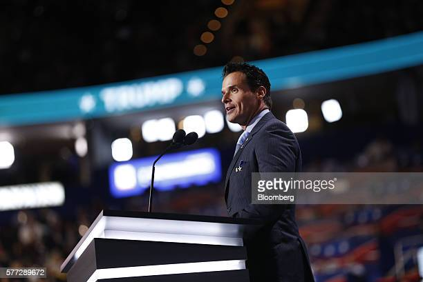 Actor Antonio Sabato Jr speaks during the Republican National Convention in Cleveland Ohio US on Monday July 18 2016 Republican factions trying to...