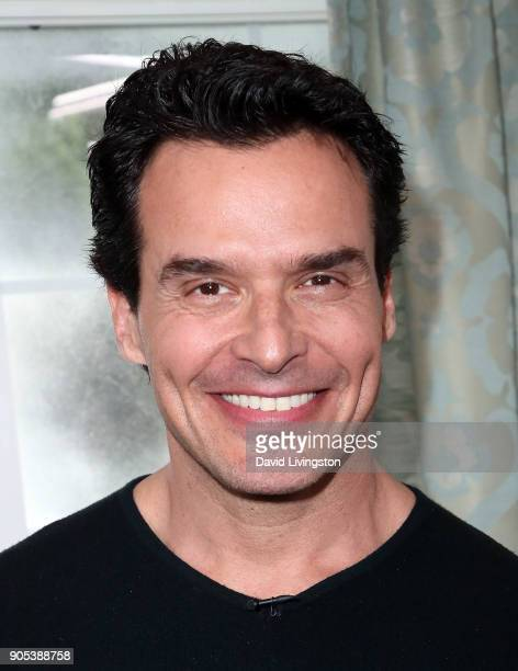 Actor Antonio Sabato Jr visits Hallmark's 'Home Family' at Universal Studios Hollywood on January 15 2018 in Universal City California