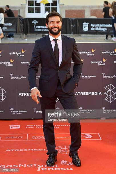 Actor Antonio Velazquez attends Nuestros Amantes premiere at the Cervantes Teather during the 19th Malaga Film Festival on April 30 2016 in Malaga...