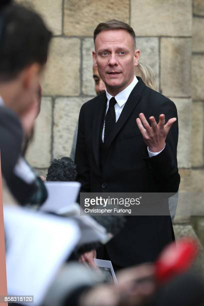 Actor Antony Cotton after the funeral of actress Liz Dawson at Salford Cathedral on October 6 2017 in Salford England Actress Liz Dawn who died aged...