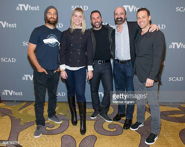 Actor Antony Starr actress Ivana Milicevic Executive Producer Adam Tagum actor Matt Servitto and actor Matthew Rauch attends 'Banshee' event during...