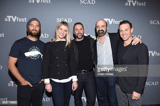 Actor Antony Starr Actress Ivana Milicevic Writer and Executive Producer Adam Targum Actor Matt Servitto and Actor Matthew Rauch attend the Banshee...