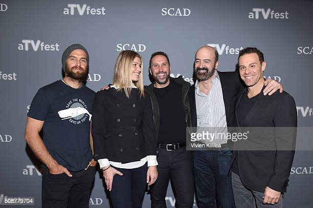 Actor Antony Starr Actress Ivana Milicevic Writer and Executive Producer Adam Targum Actor Matt Servitto and Actor Matthew Rauch attend the 'Banshee'...