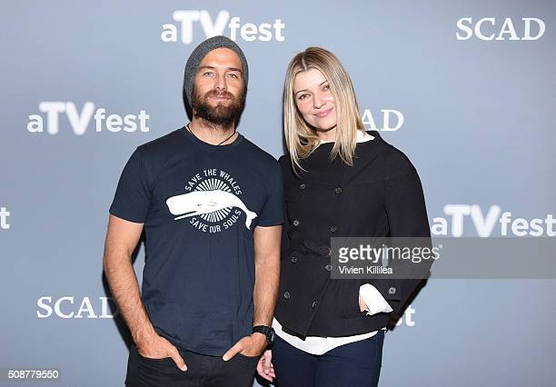 Actor Antony Starr and Actress Ivana Milicevic attend the 'Banshee' event during aTVfest 2016 presented by SCAD on February 6 2016 in Atlanta Georgia