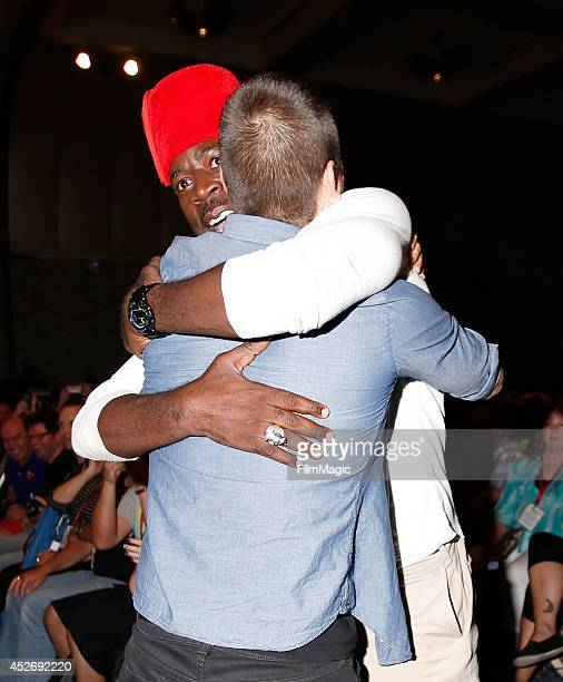 Actor Antony Starr and Demetrius Grosse attend the Cinemax Banshee Panel during ComicCon 2014 on July 25 2014 in San Diego California