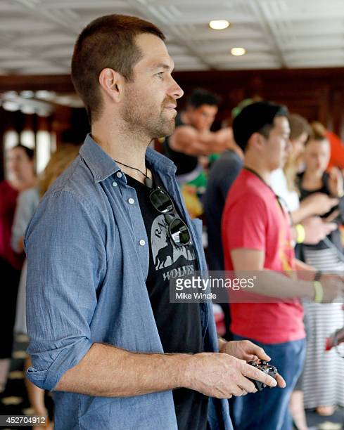 Actor Antony Starr attends the Nintendo Lounge on the TV Guide Magazine Yacht at ComicCon #TVGMYacht during ComicCon International 2014 on July 25...