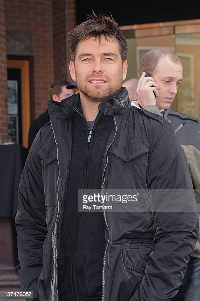 Actor Antony Starr leaves a portrait studio on January 20 2012 in Park City Utah