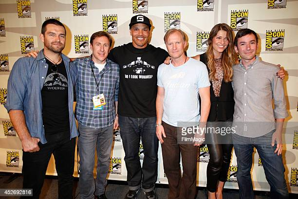 Actor Antony Starr writer/producer Jonathan Tropper actors Geno Segers Ulrich Thomsen Ivana Milicevic and writer Andy Greenwald attend the Cinemax...