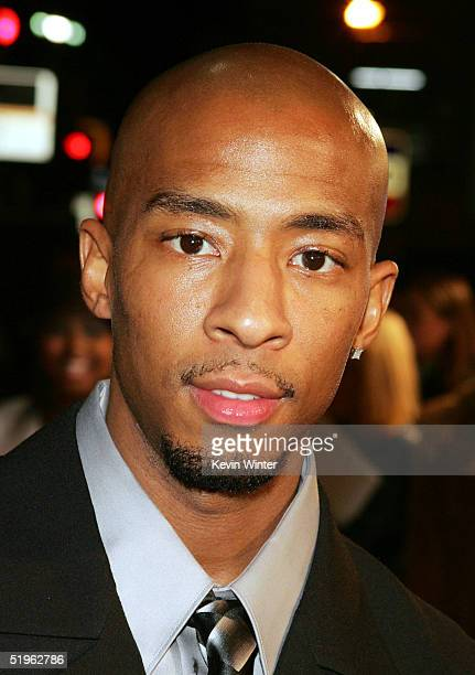 Actor Antwon Tanner arrives at the premiere of Paramounts' Coach Carter at the Chinese Theater on January 13 2005 in Los Angeles California
