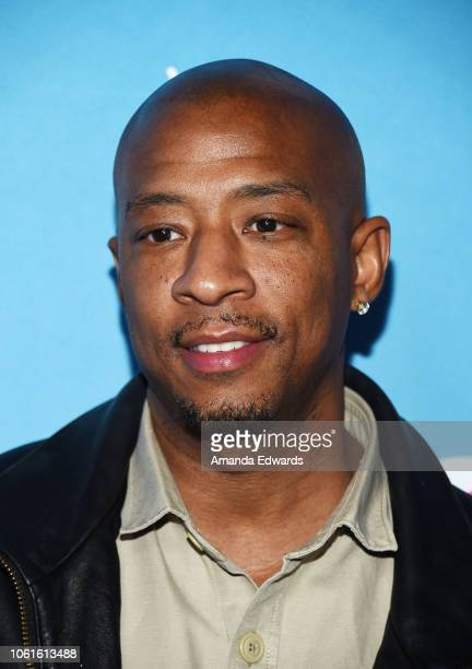 Actor Antwon Tanner attends the opening night celebration of the LifeSized Gingerbread House Experience at The Grove with the Stars of Lifetime's...