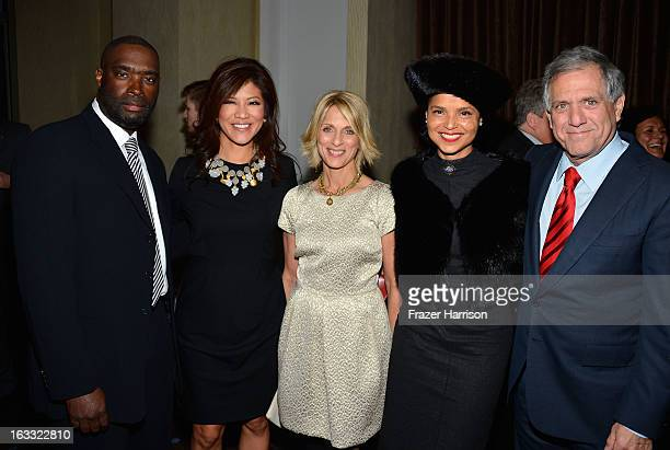 Actor Antwone Fisher Julie Chen Alliance For Childrens Rights CEO Janis Spire actress Victoria Rowell President and Chief Executive Officer of CBS...