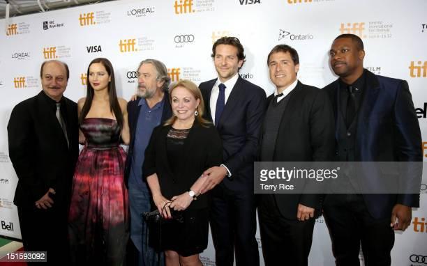 Actor Anupam Kher Actress Jennifer Lawrence Actor Robert De Niro Actress Jacki Weaver Actor/ Executive Producer Bradley Cooper Filmmaker David O...