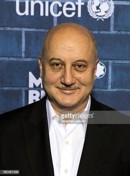 Actor Anupam Kher attends a PreOscar charity brunch hosted by Montblanc and UNICEF to celebrate the launch of their new 'Signature For Good 2013'...