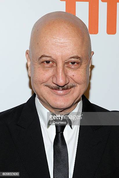 Actor Anupam Kher attends the 2016 Toronto International Film Festival Premiere of 'The Headhunter's Calling' at Roy Thomson Hall on September 14...
