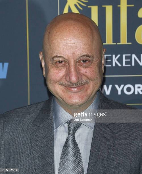 Actor Anupam Kher attends the 2017 International Indian Film Academy Festival at MetLife Stadium on July 14 2017 in East Rutherford New Jersey