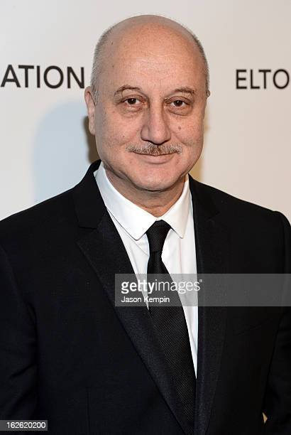 Actor Anupam Kher attends the 21st Annual Elton John AIDS Foundation Academy Awards Viewing Party at West Hollywood Park on February 24 2013 in West...