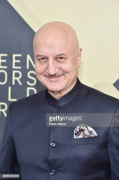 Actor Anupam Kher attends the 24th Annual Screen Actors Guild Awards at The Shrine Auditorium on January 21 2018 in Los Angeles California 27522_007