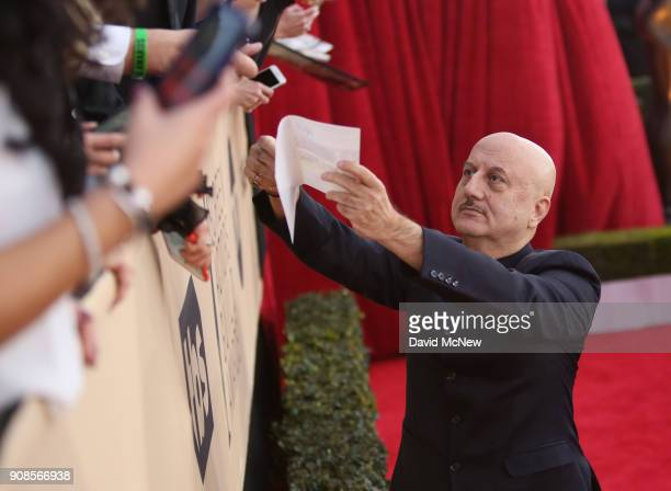 Actor Anupam Kher attends the 24th Annual Screen Actors Guild Awards at The Shrine Auditorium on January 21 2018 in Los Angeles California