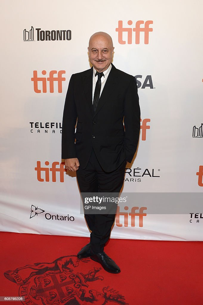 Actor Anupam Kher attends 'The Headhunter's Calling' premiere during 2016 Toronto International Film Festival at Roy Thomson Hall on September 14, 2016 in Toronto, Canada.