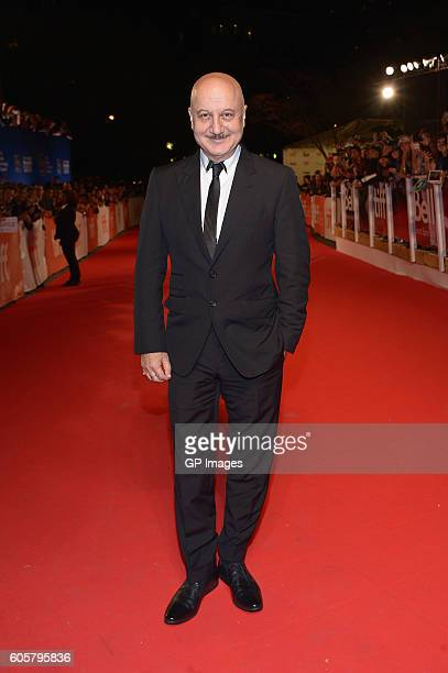 Actor Anupam Kher attends 'The Headhunter's Calling' premiere during 2016 Toronto International Film Festival at Roy Thomson Hall on September 14...