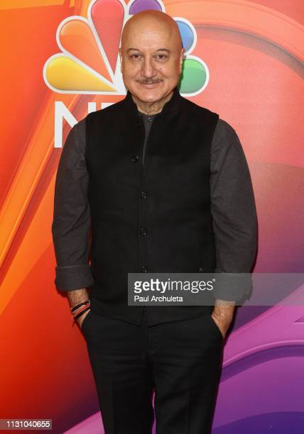 Actor Anupam Kher attends the NBC's Los Angeles midseason press junket at NBC Universal Lot on February 20 2019 in Universal City California