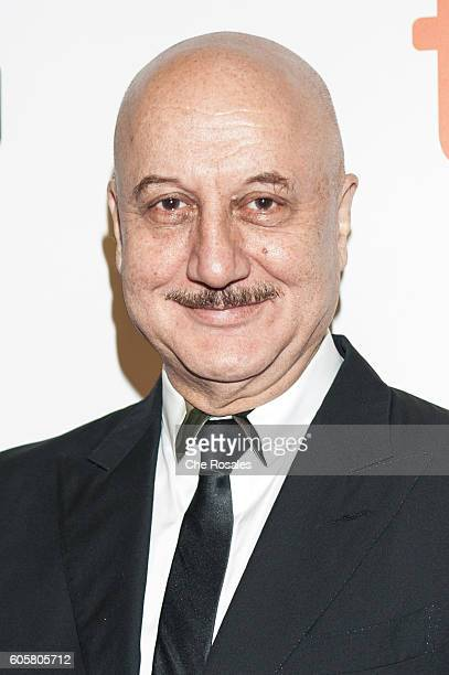 Actor Anupam Kher attends the premier of 'The Headhunter's Calling' at Roy Thomson Hall on September 14 2016 in Toronto Canada