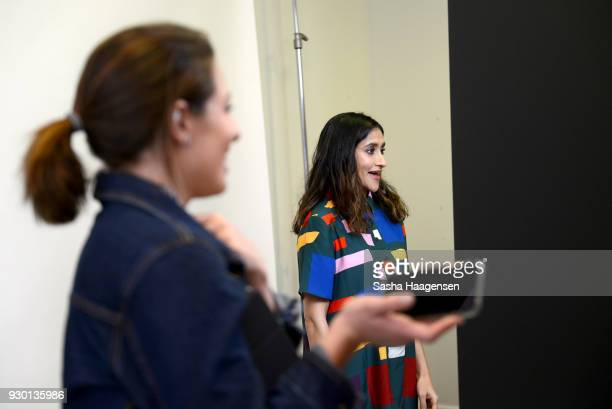 Actor Aparna Nancherla from the show 'Corporate' poses at the Pizza Hut Lounge at the 2018 SXSW Film Festival on March 10 2018 in Austin Texas