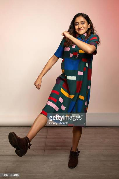 Actor Aparna Nancherla from the show 'Corporate' poses for a portrait in the Getty Images Portrait Studio Powered by Pizza Hut at the 2018 SXSW Film...