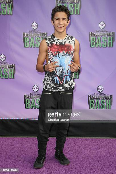 Actor Aramis Knight arrives at Hub Network's 1st annual Halloween bash at Barker Hangar on October 20 2013 in Santa Monica California