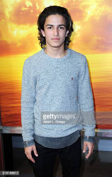 Actor Aramis Knight arrives for the Premiere Of AMC's 'Fear The Walking Dead' Season 2 held at Cinemark Playa Vista on March 29 2016 in Los Angeles...