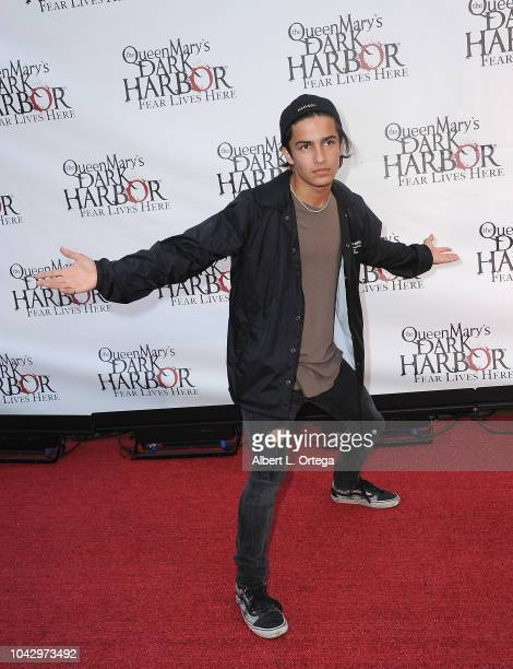Actor Aramis Knight arrives for The Queen Mary's Dark Harbor Media And VIP Night held at The Queen Mary on September 28 2018 in Long Beach California