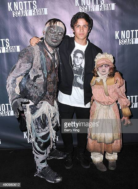 Actor Aramis Knight attends Knott's Scary Farm Black Carpet at Knott's Berry Farm on October 1 2015 in Buena Park California