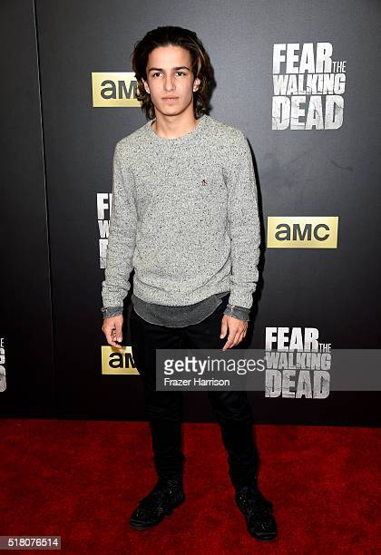 Actor Aramis Knight attends the premiere of AMC's 'Fear The Walking Dead' Season 2 at Cinemark Playa Vista on March 29 2016 in Los Angeles California