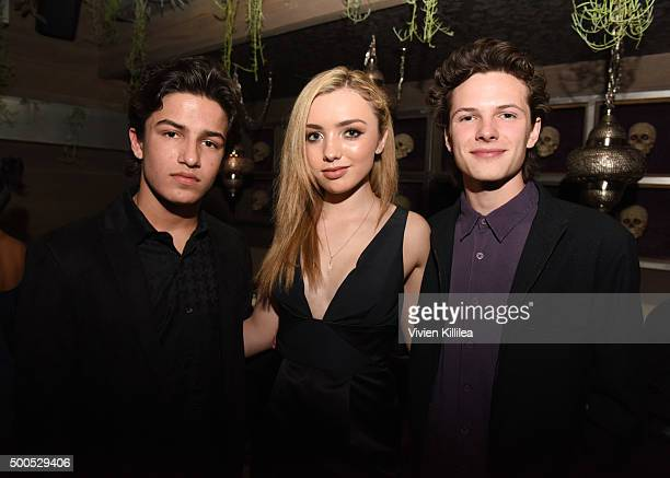 Actor Aramis Knight Peyton List and actor Jance Enslin attend NYLON Celebrates Chloe Grace Moretz's December/January Cover at Toca Madera on December...