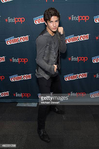 Actor Aramis Knight poses in the press room for Into the Badlands during New York ComicCon Day 3 at The Jacob K Javits Convention Center on October...