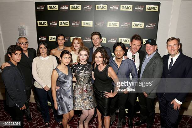 Actor Aramis Knight producers Michael Shamberg and Stacey Sher actors Madeleine Mantock Ally Ioannides Emily Beecham Sarah Bolger Oliver Stark and...