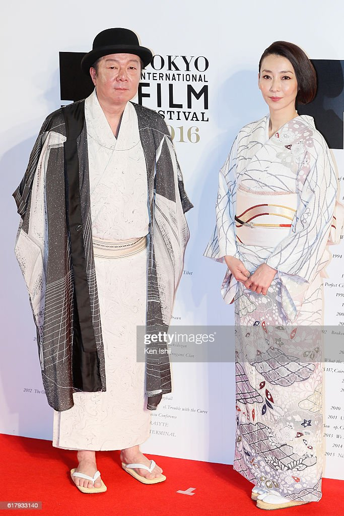 Actor Arata Furuta and actress Izumi Inamori attend the Tokyo International Film Festival 2016 Opening Ceremony at Roppongi Hills on October 25, 2016 in Tokyo, Japan.