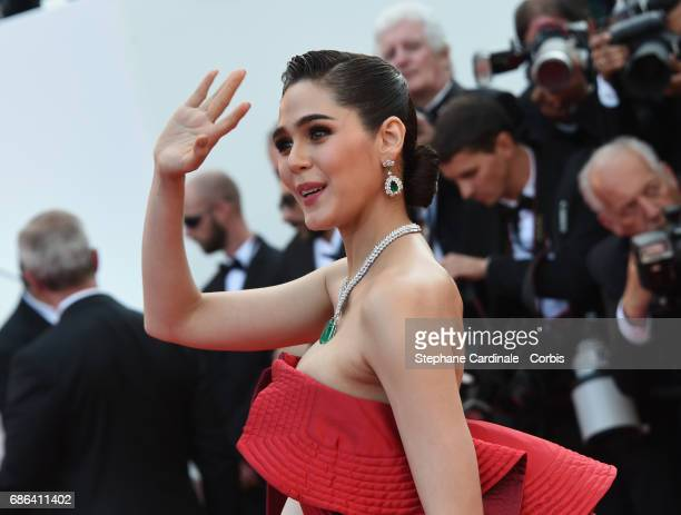 Actor Araya A Hargate attends 'The Meyerowitz Stories' premiere during the 70th annual Cannes Film Festival at Palais des Festivals on May 21 2017 in...