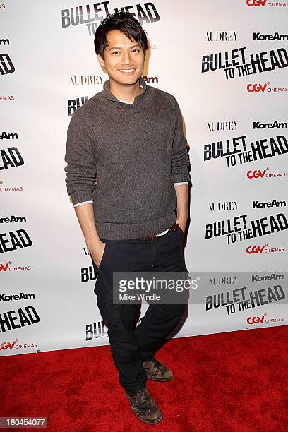 Actor Archie Kao attends KoreAm Journal and Audrey Magazine's advanced screening of 'Bullet To The Head' at CGV Cinemas on January 31 2013 in Los...