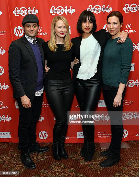 """Actor Arian Moayed, Actress Halley Feiffer, Director Desiree Akhavan and Actress Rebecca Henderson attend the premiere of """"Appropriate Behavior"""" at..."""